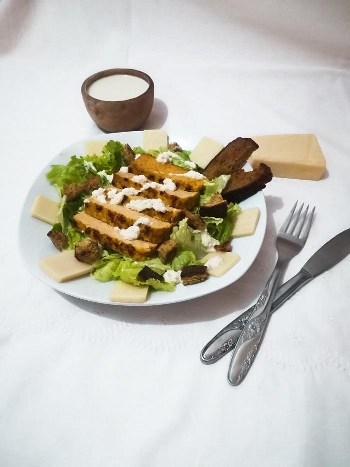 Salada de Tempeh a 4 mãos