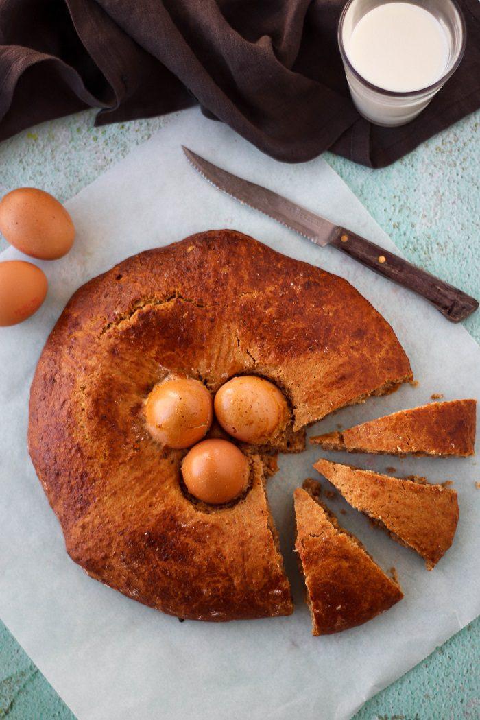 Receita de folar de páscoa com ovos