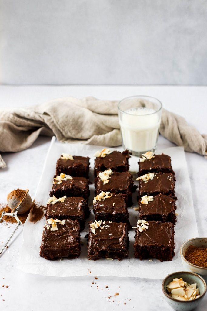 Receita de Bolo guloso de chocolate e coco