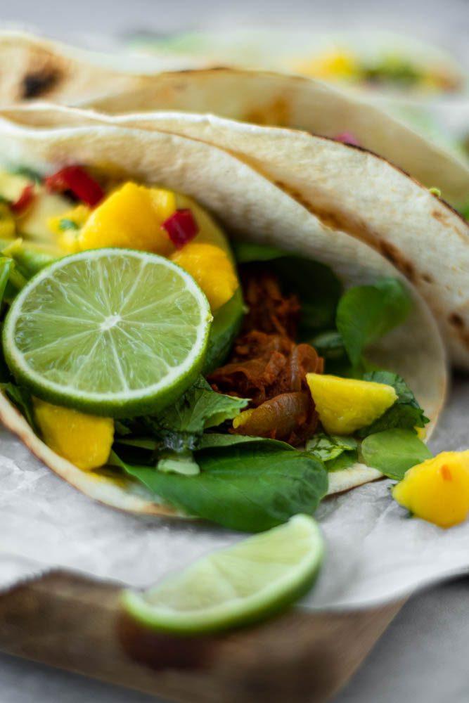 Tacos Vegetarianos de Jaca com canónigos