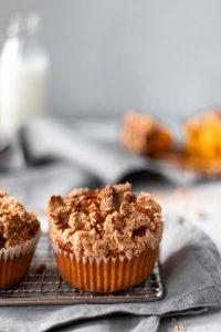 Muffins de abóbora e crumble 45º
