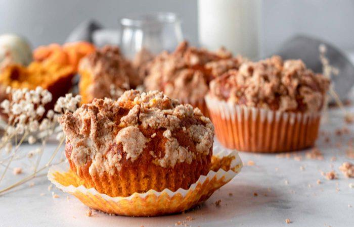 Muffins de abóbora e crumble