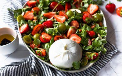 Salada de Morangos com Burrata